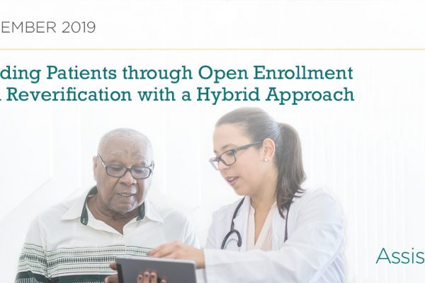 Preparing Patients for Open Enrollment and Reverification